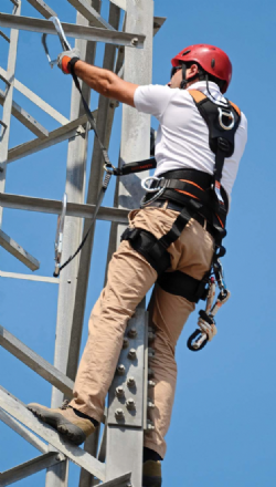 Fall Arrest Work Positioning Suspension Harness